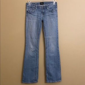 Rerock for Express Distressed Boot Jeans Size 6L